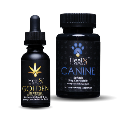 1 x Canine, 1 x Golden (500 mg)